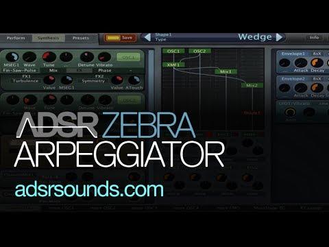 Design Cool Arpeggiator Sounds in Zebra