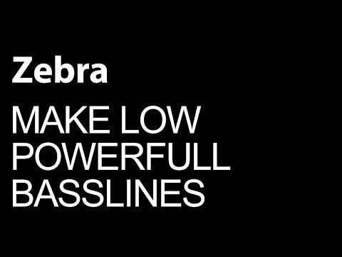 How To Make Powerful Low Basslines in U-he Zebra