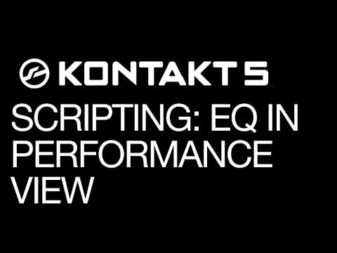 Instrument Bus Filter in Performance View in Kontakt