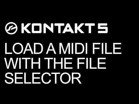 Kontakt Scripting - Load a MIDI File With The File Selector