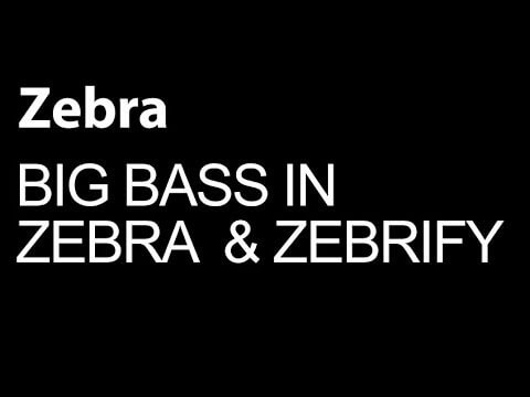 Make Big Bass Sounds With Zebra and Zebrify
