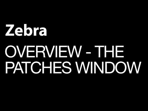 U-He Zebra Basic Overview Series: The Patches Window