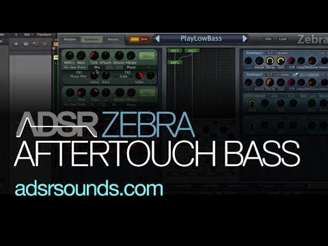 Using Aftertouch To Create Big Bass Sounds in Zebra