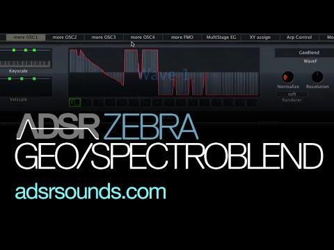 Using GeoBlend and SpectroBlend in Zebra