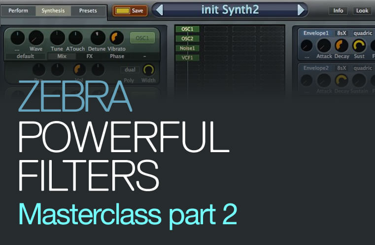 U-He ZEBRA - Filters Masterclass