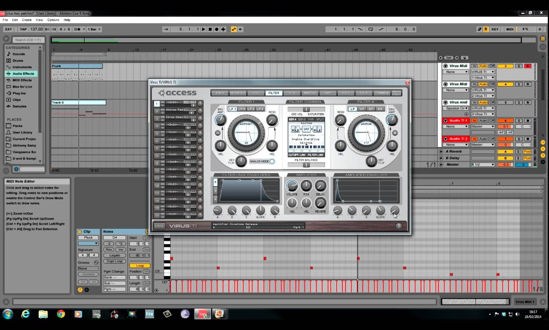 Access Virus TI - Supersaw Trance Lead Sound Design - How To