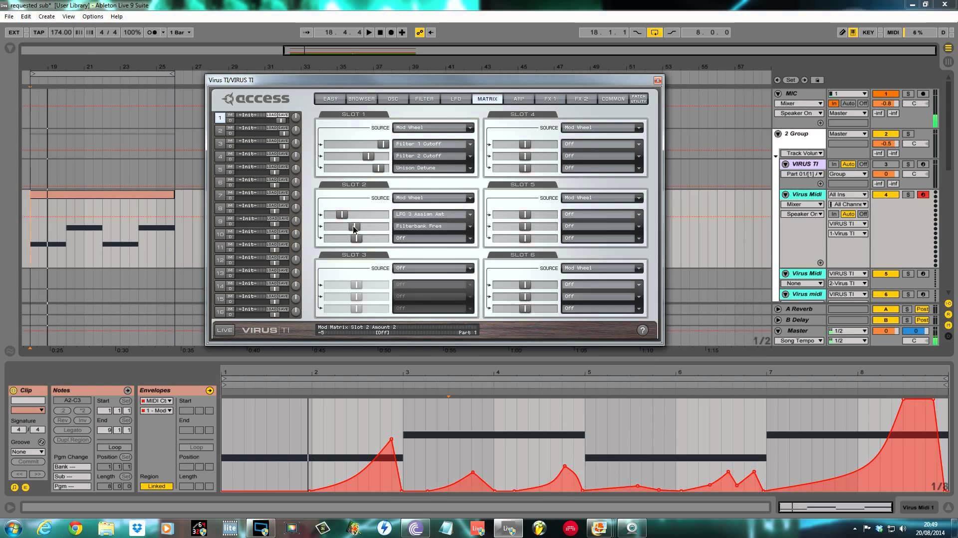 """Access Virus tutorial - """"Jubei"""" Style Sub Bass"""