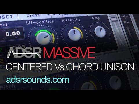 Centered Vs Chord Unison Control In Massive