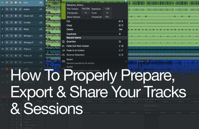 How To Prepare, Export & Share Your Tracks