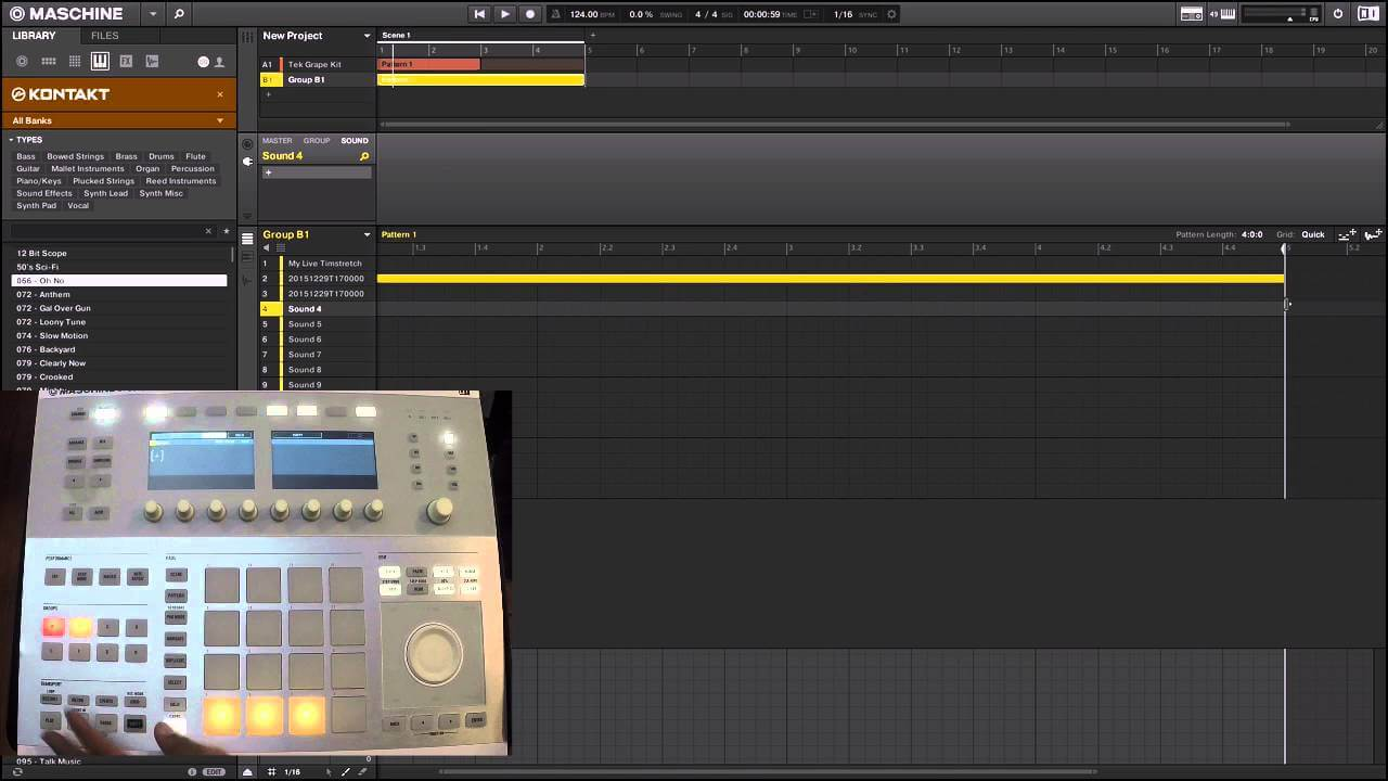 Maschine + Kontakt : Live Pitch Shifting