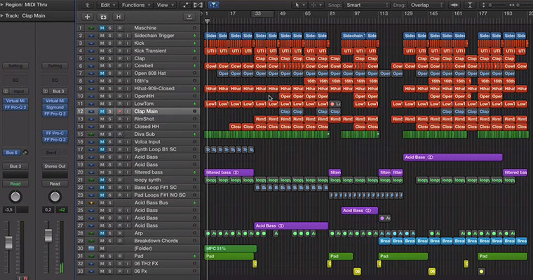 Arrangement with Logic Pro X