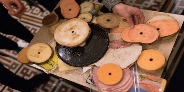 Playable Vinyl Records Featuring Ham And Cheese