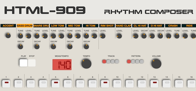 Play A Vintage TR-909 In Your Browser