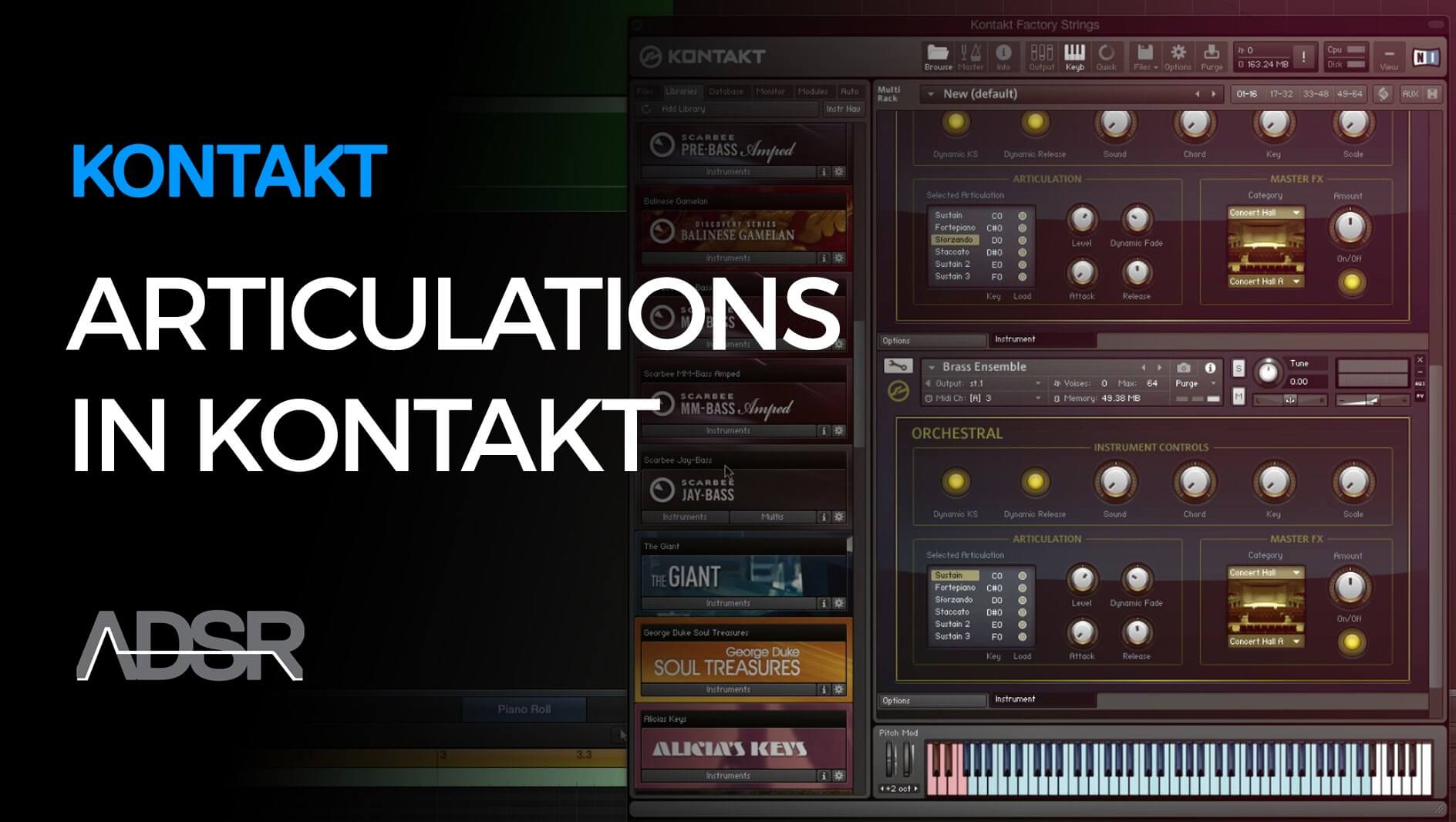 Articulations in Kontakt