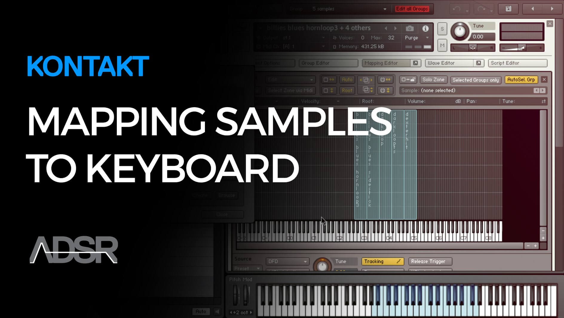 Mapping multiple samples and instruments to the keyboard in Kontakt 5