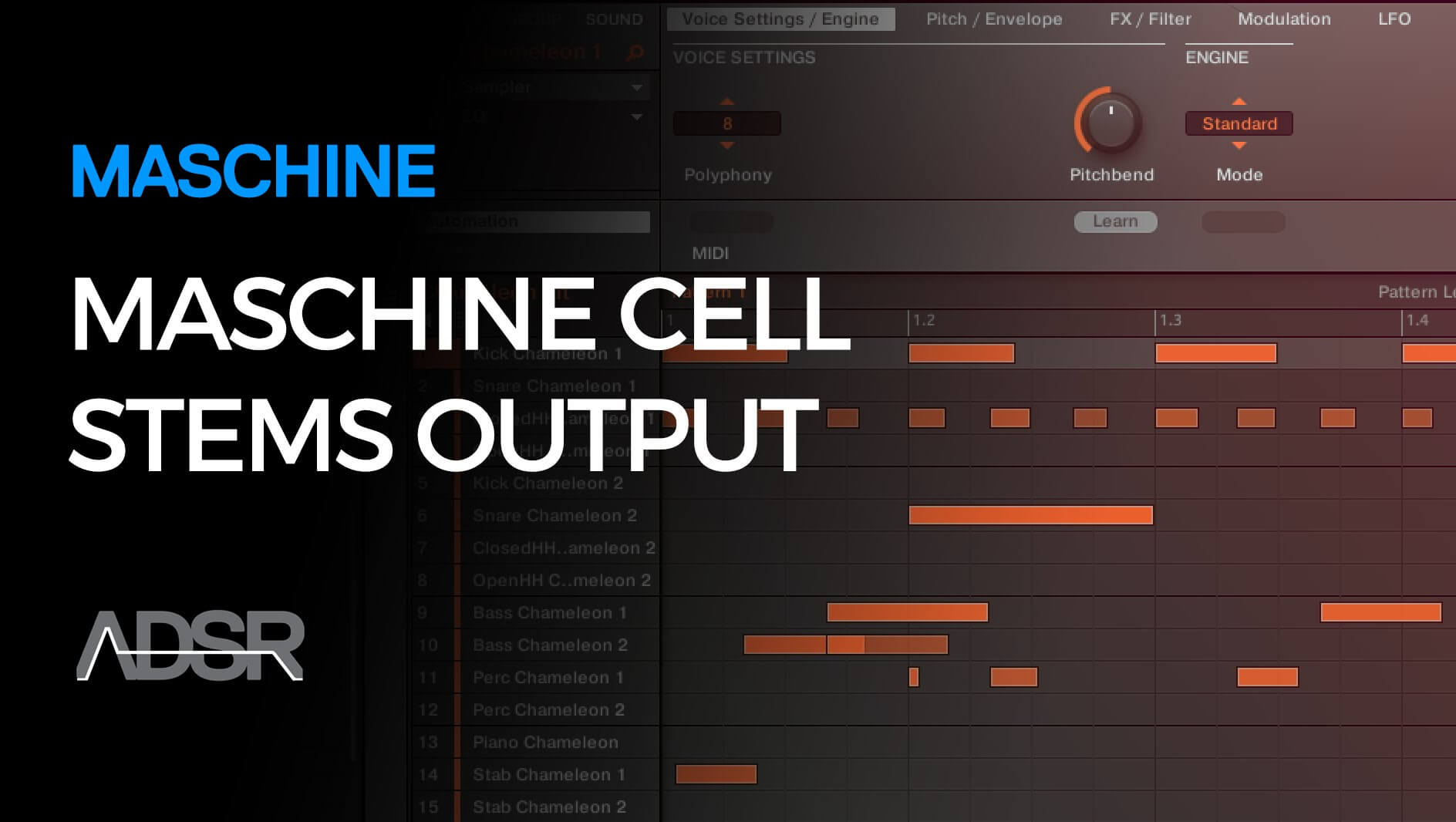 Maschine Cell Stems Output