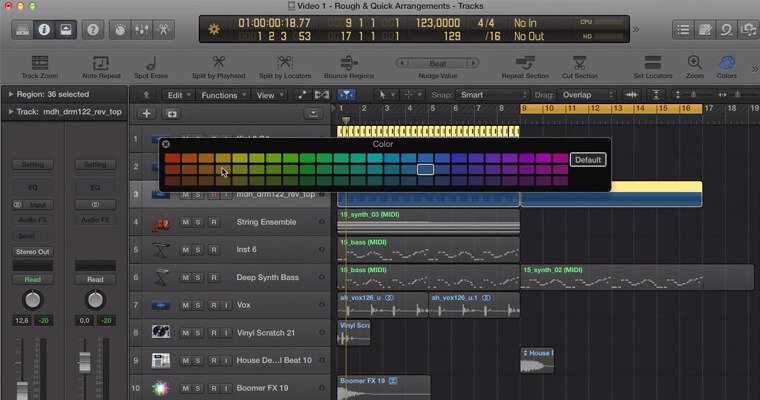 logic-pro-x-rough-arrangement