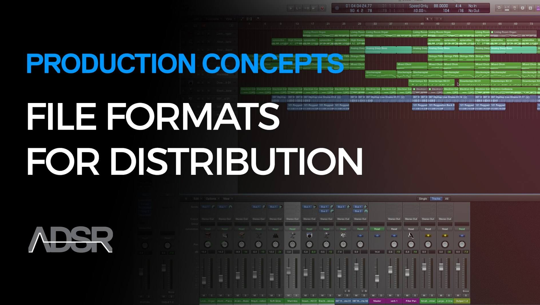 Master file formats for distribution