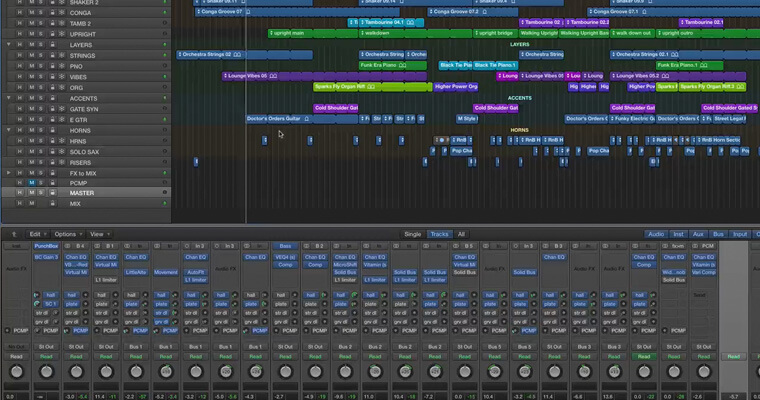 mixing session-logic-pro-x