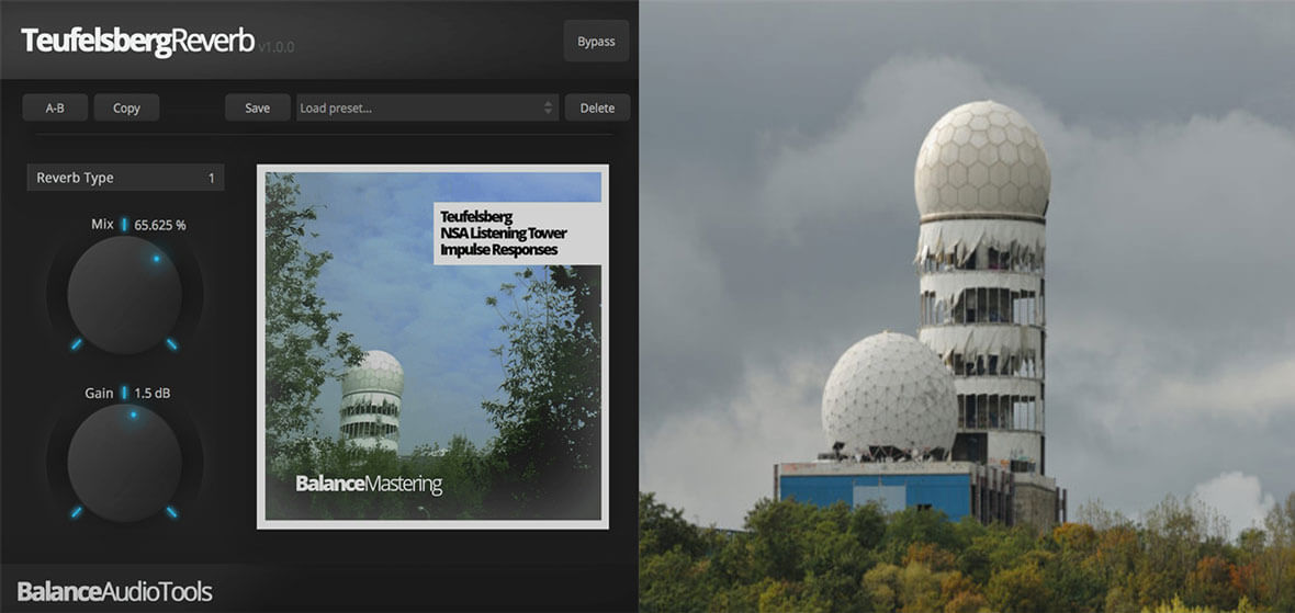 Free Reverb Plugin Uses Impulses From Cold War Spy Tower