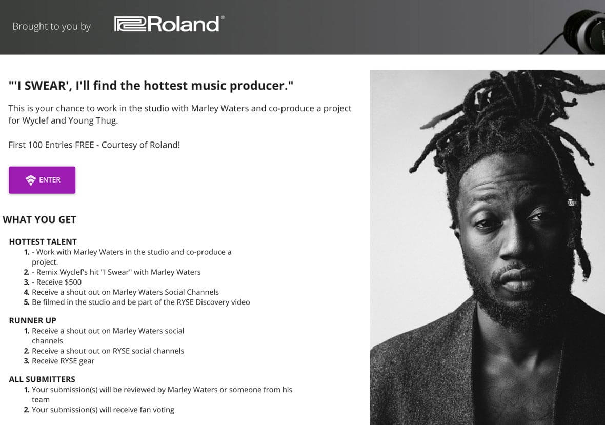 Submit Your Best Track For A Chance To Work In Roland's LA Studio