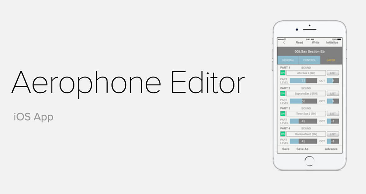 Roland Releases Aerophone Editor, Free iOS App For Aerophone Wind Instrument