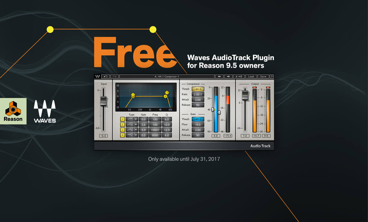 Reason 9.5 Users Can Receive A Free Plugin From Waves