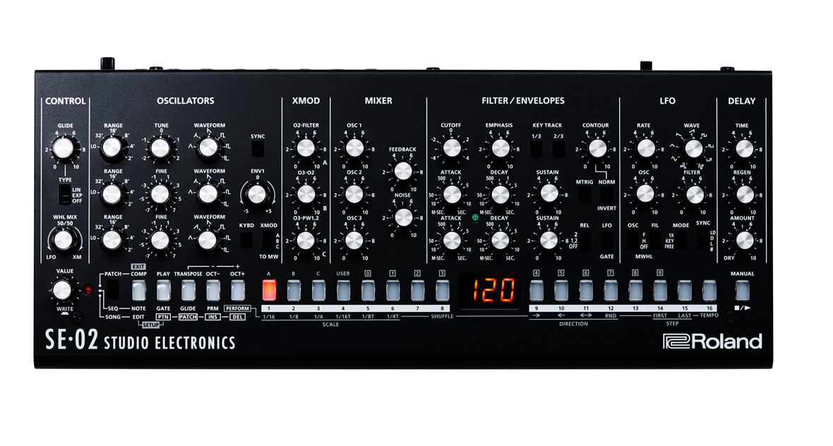Roland Reveals The SE-02, Analog Boutique Synthesizer