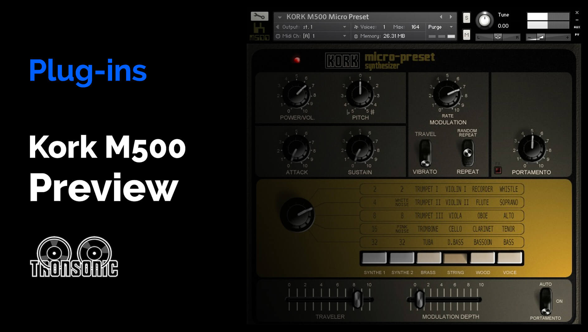 Video related to Kork M500 Micro Preset