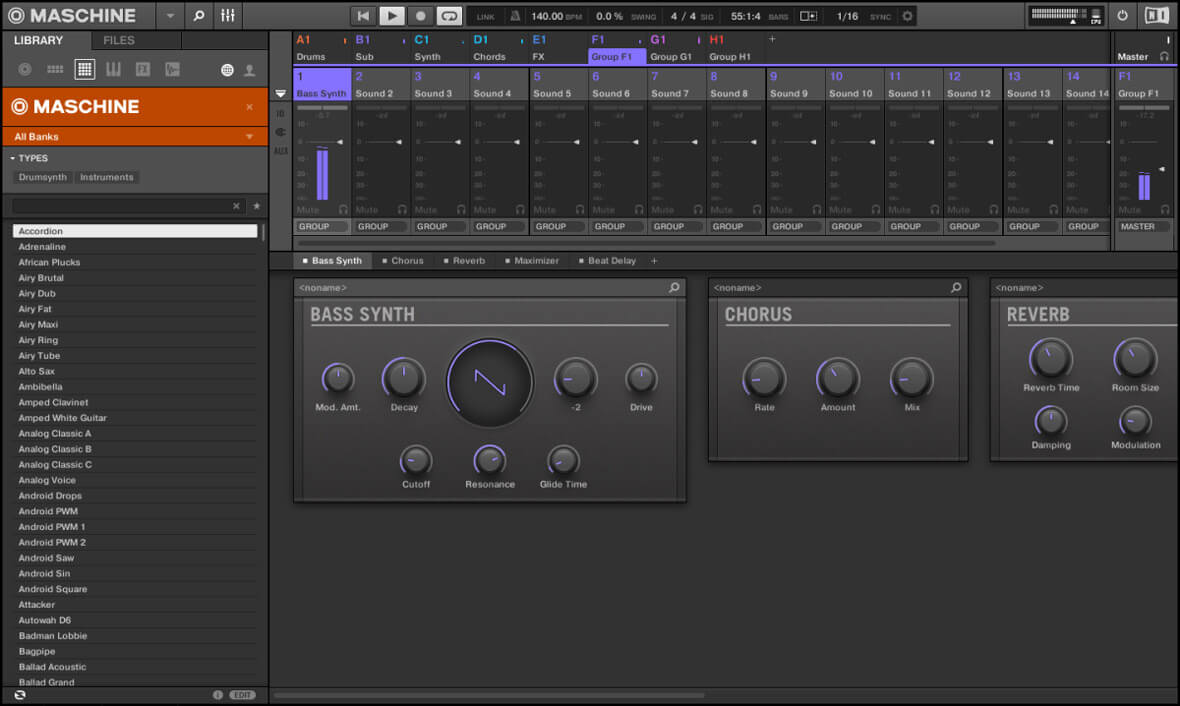 Maschine 2.6.8 Update Introduces Monophonic Bass Synth and Isomorphic Keyboard