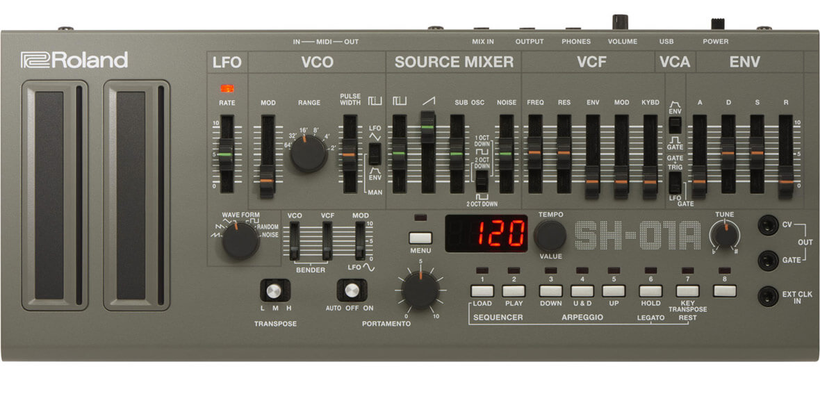 808 Day: Roland Announces SH-101 Boutique Clone, The SH-01A Synthesizer