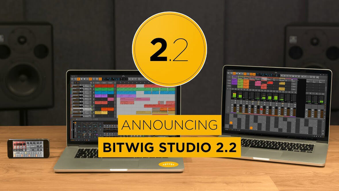 Bitwig Studio 2.2 Introduces Ableton Link Support, New Devices and Sounds