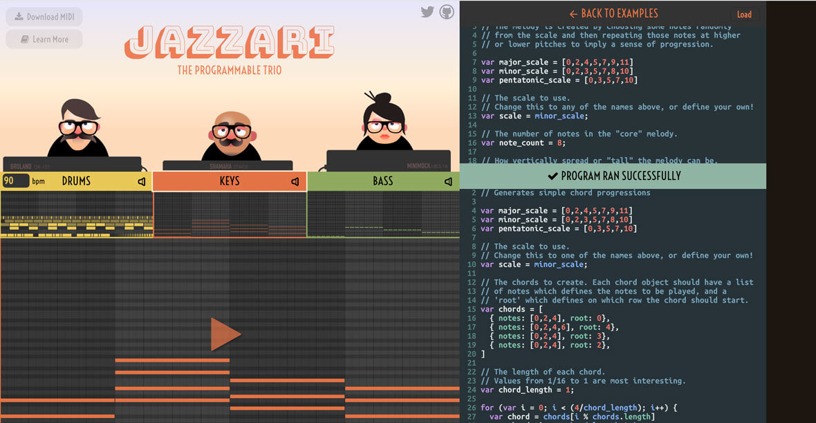 Jazzari Is A Programmable Band In Your Browser