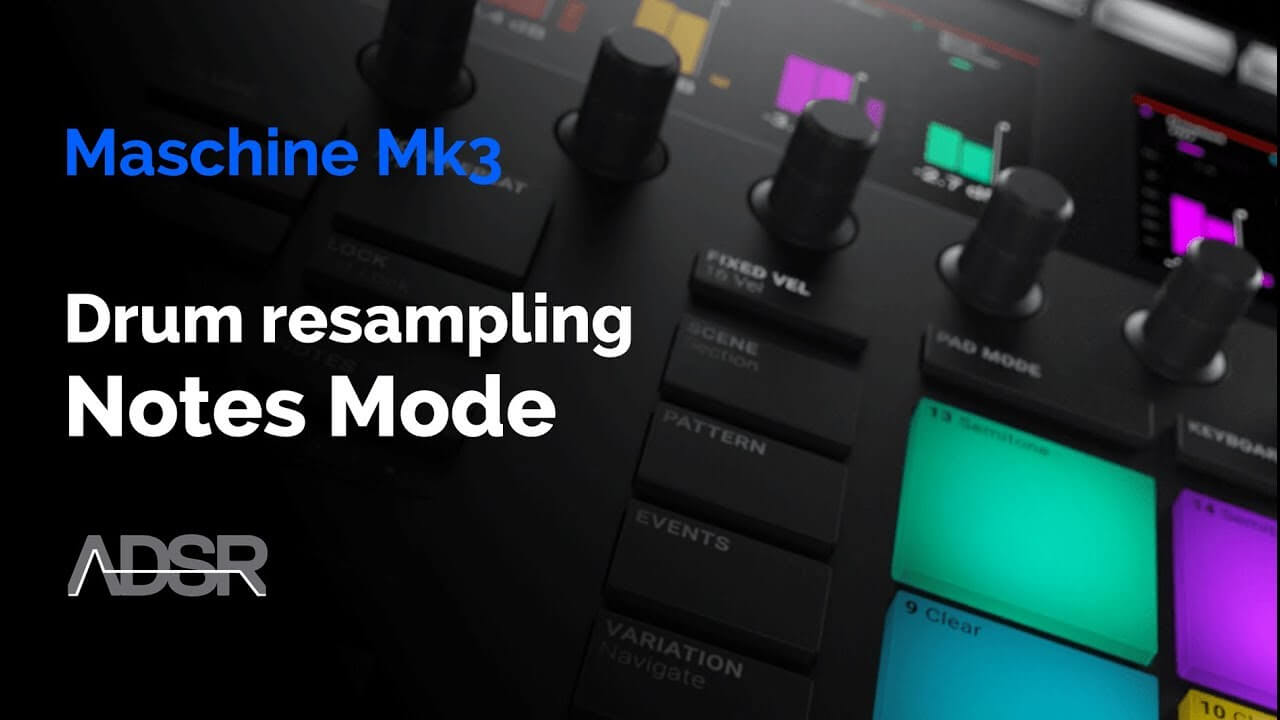 Maschine Mk3 - Drum Resampling with MASCHINE NOTES Mode