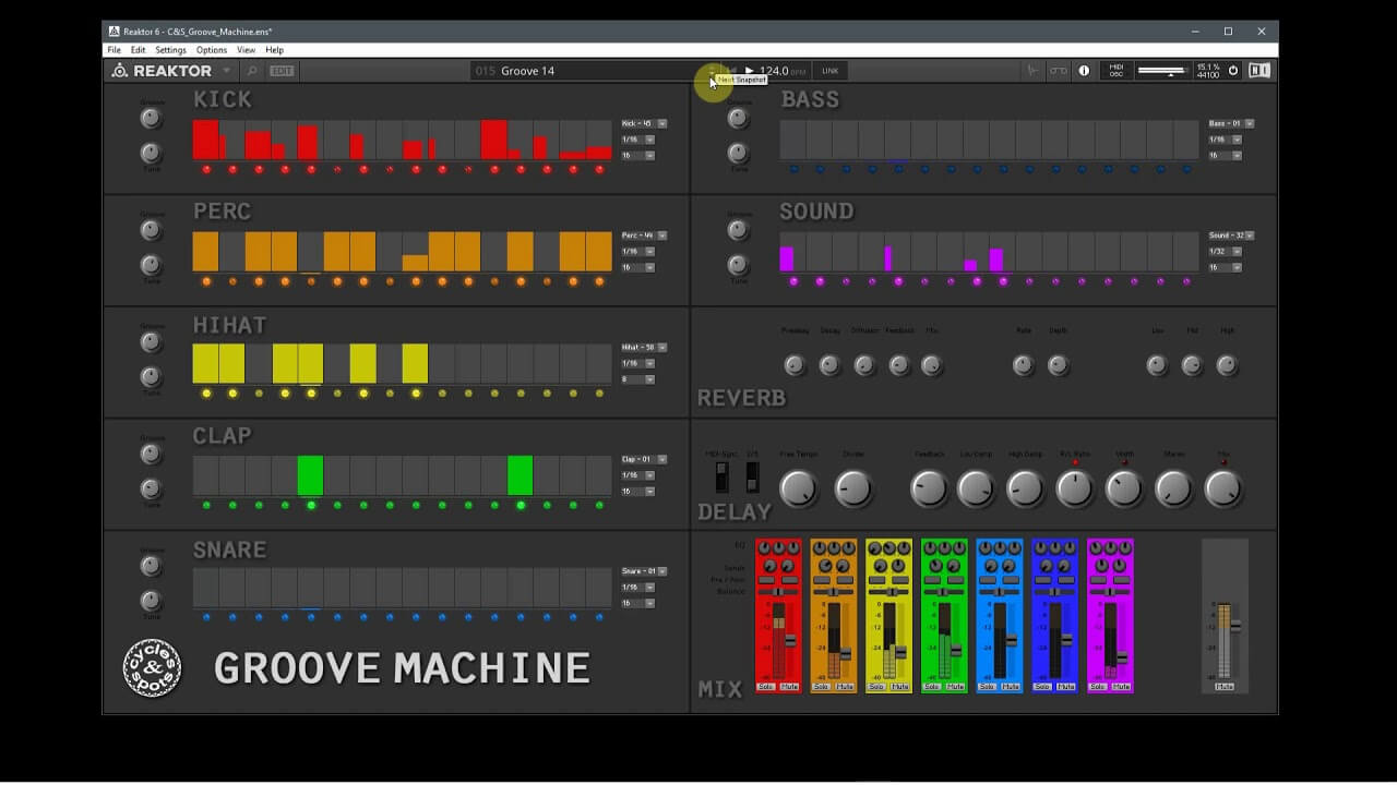 Video related to Reaktor Groove Machine