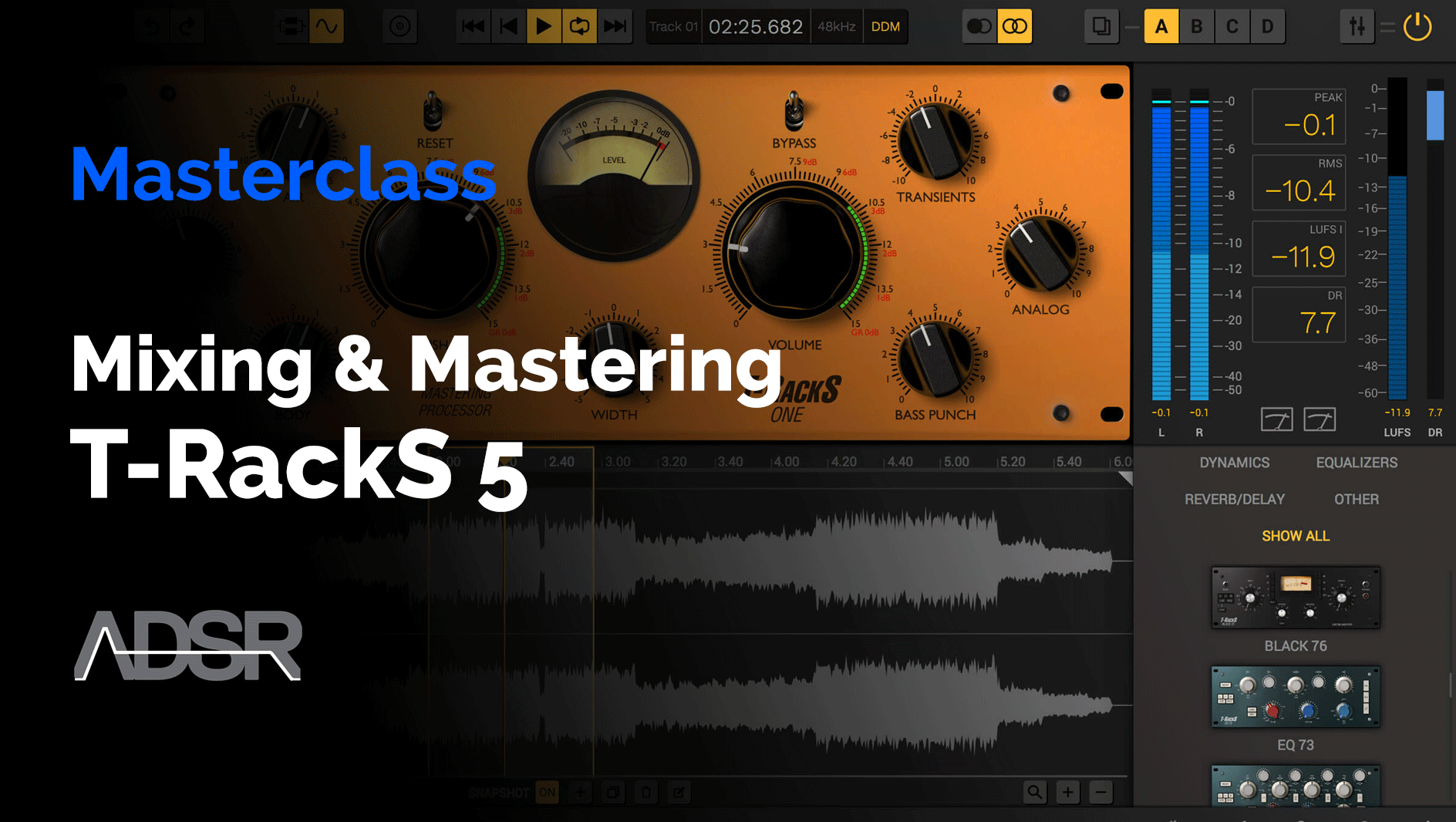 Mastering and Mixing with T-RackS 5