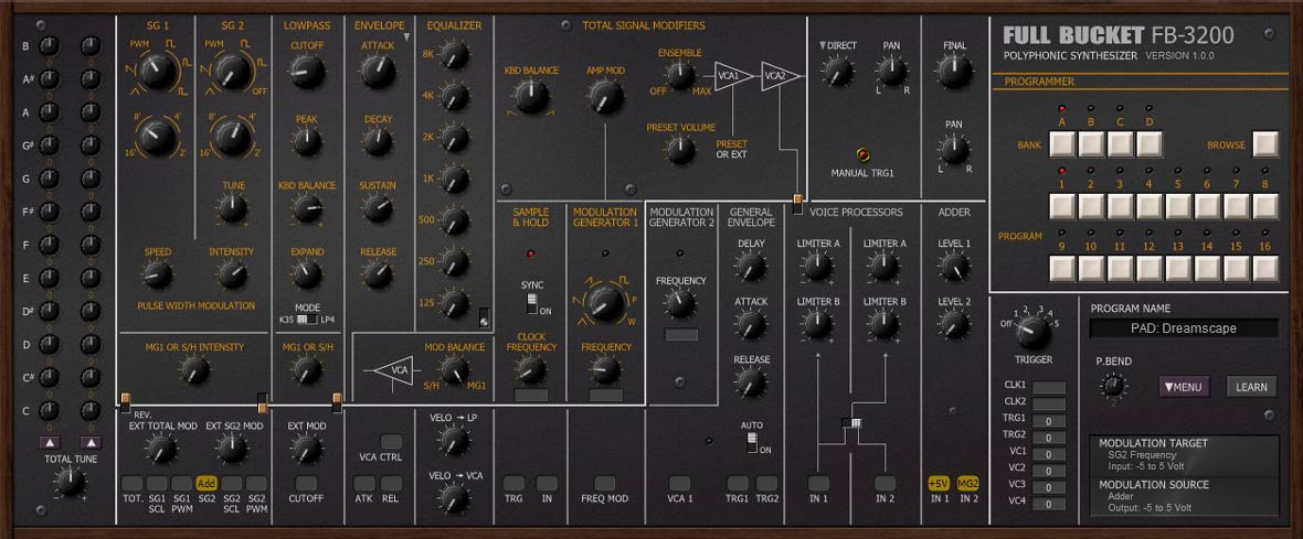The FB-3200 Is A Free Synth That Emulates The KORG PS-3200