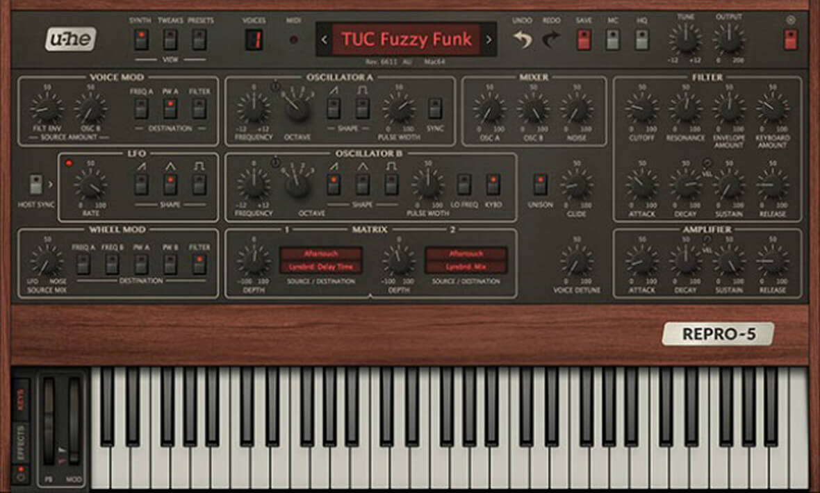 U-he Updates Repro-1, Adds Free Repro-5 Poly Synth