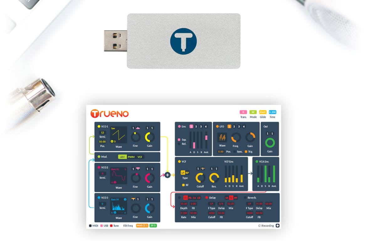Trueno Is A 3-OSC Analog Synth In A USB Stick