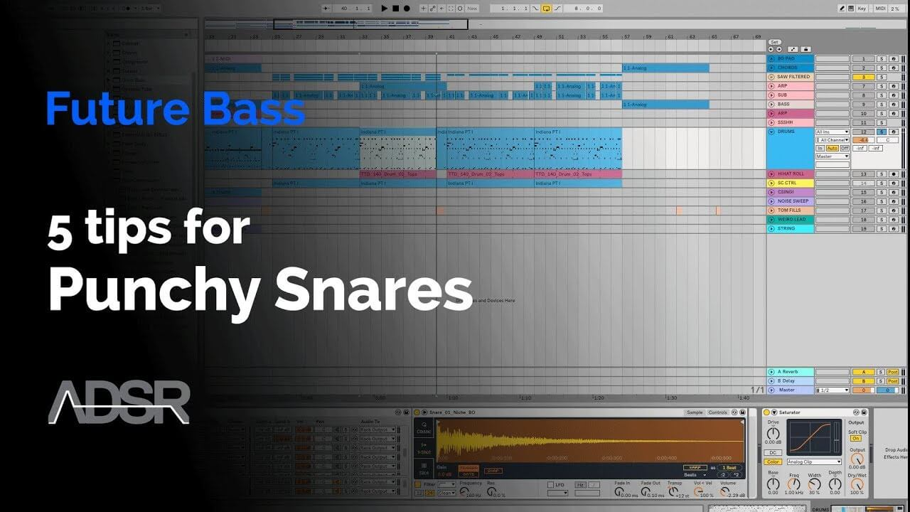 5 tips for punchy snares in Future Bass