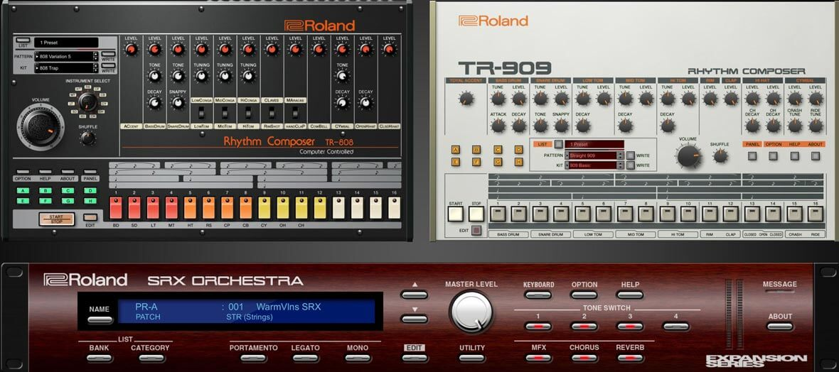 NAMM 2018: Roland Announces VST Recreations of TR-808 and TR-909