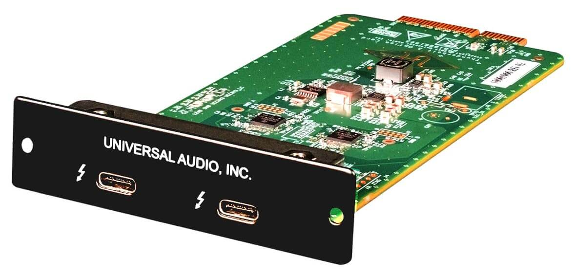 NAMM 2018: Universal Audio Announces Thunderbolt 3 Option Card For Apollo Interfaces