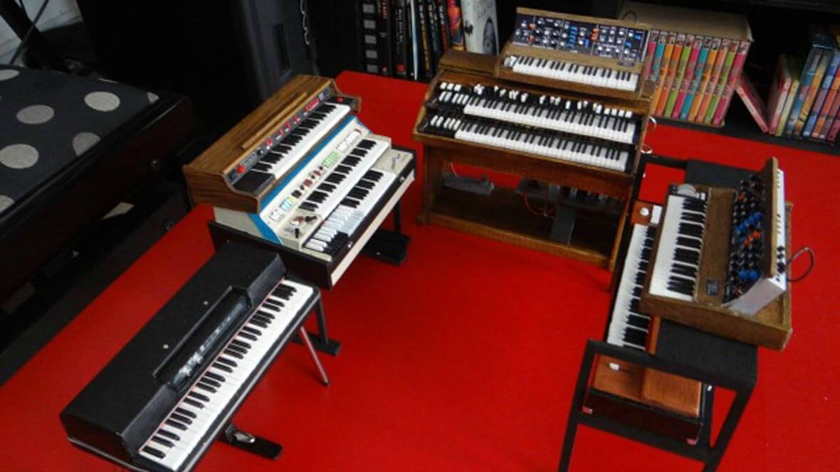 These Miniature Synth Models Include The Roland SH-1000, Minimoog Model D, and More