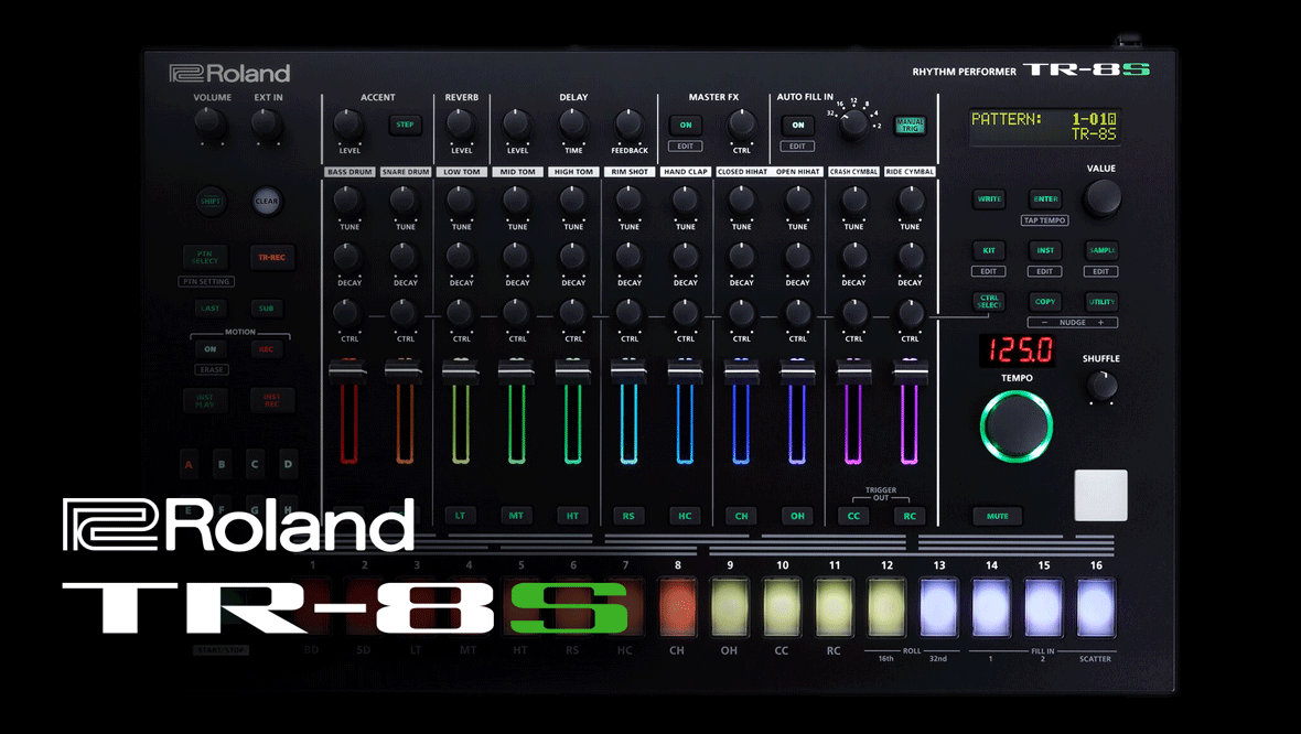 Roland Unveils the TR-8S Rhythm Performer