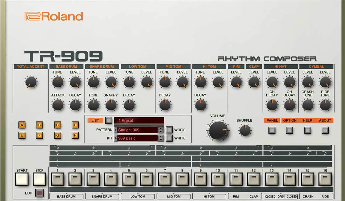 Large original Wave//Kontakt Studio Samples//loops Library from ROLAND TR-909