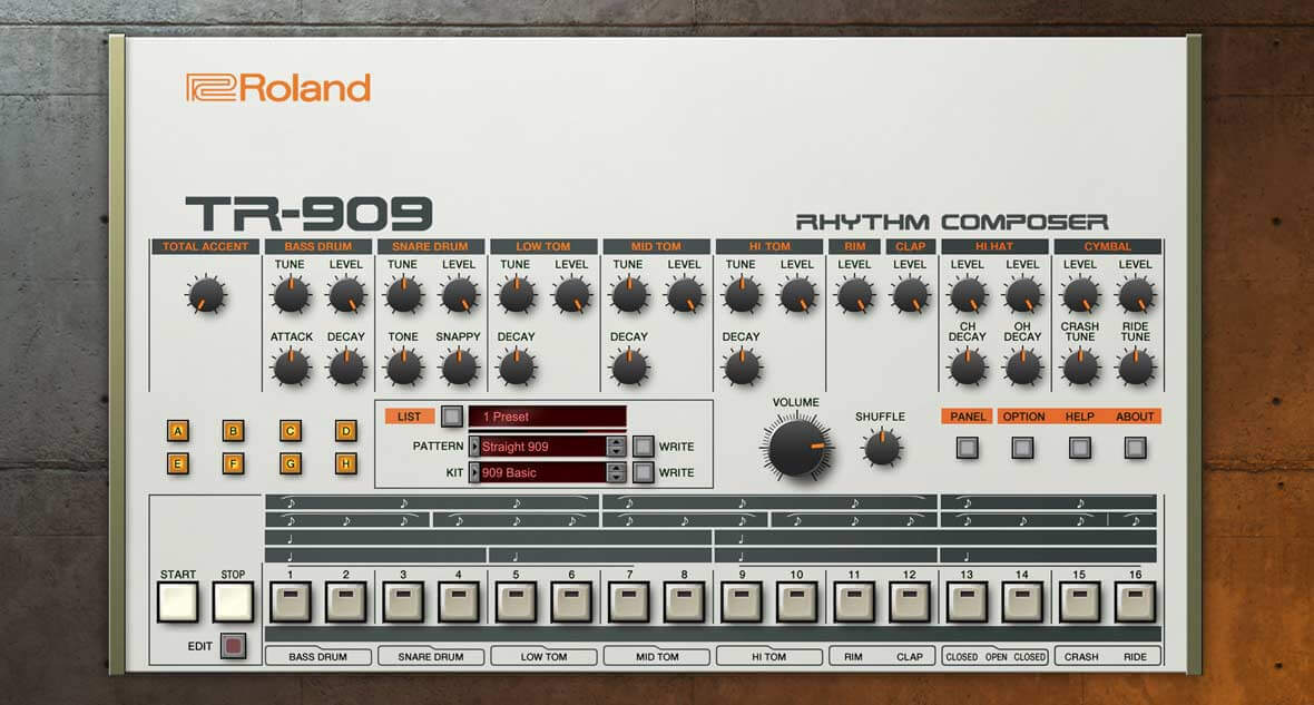 Roland Releases VST Emulation of TR-909 Drum Machine