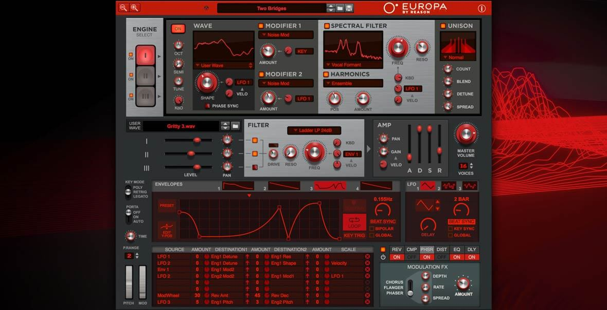 Reason's Europa Synth Now Available In VST/AU Format