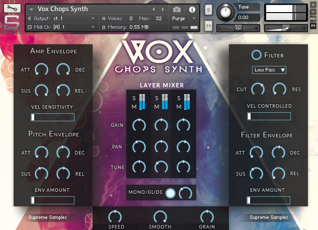 VoxChops Synth - ADSR