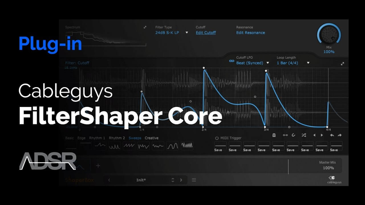 Video related to FilterShaper Core 2