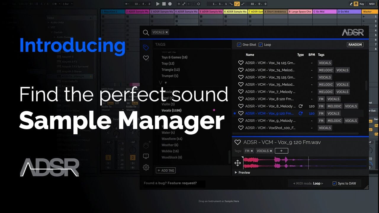 Introducing ADSR Sample Manager